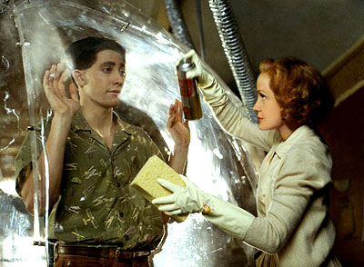 Swoosie Kurtz Jake Gyllenhaal and  in Touchstone's Bubble Boy - 2001