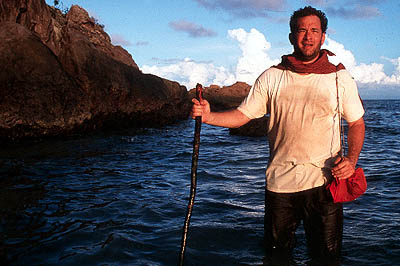 Cast Away Tom Hanks as an isolated man forced to survive on a deserted island in 20th Century Fox's  - 2000