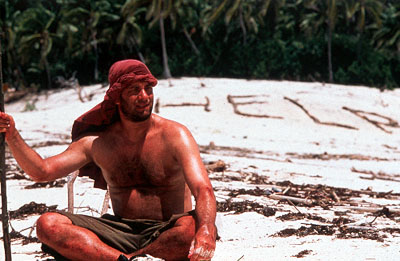 Cast Away Tom Hanks as an isolated man forced to transform himself in order to survive in 20th Century Fox's  - 2000