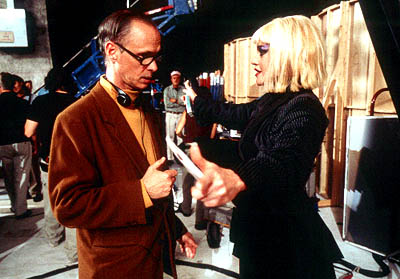 Cecil B. DeMented Director John Waters and Melanie Griffith on the set of Artisan's  - 2000