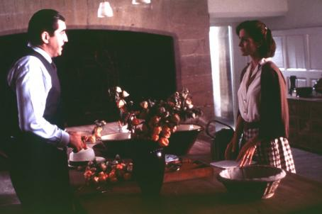 Alfred Molina  and Carrie-Anne Moss in Miramax's Chocolat - 2000