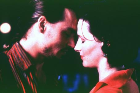 Chocolat Johnny Depp and Juliette Binoche in Miramax's  - 2000