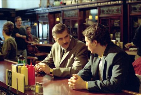 Confessions of a Dangerous Mind George Clooney and Sam Rockwell in Miramax's  - 2002