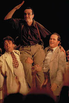 Angus Macfadyen , Hank Azaria and Cary Elwes in Touchstone's Cradle Will Rock - 12/99