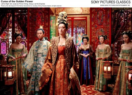 Curse of the Golden Flower Left to Right: Qin Junjie as Prince Cheng, Gong Li as the Empress. Photo by: Ms. Bai Xiaoyan © Film Partner International Inc. Courtesy of Sony Pictures Classics, all right reserved.