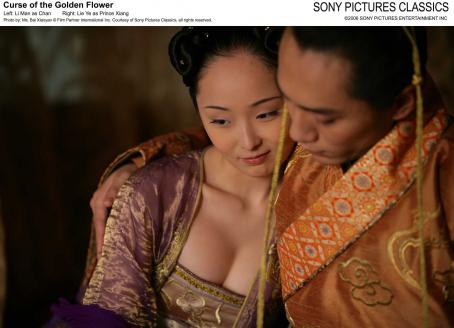Curse of the Golden Flower Left: Li Man as Chan; Right: Lie Ye as Prince Xiang. Photo by: Ms. Bai Xiaoyan © Film Partner International Inc. Courtesy of Sony Pictures Classics, all right reserved.