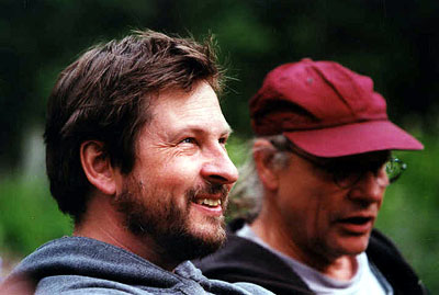 Dancer in the Dark Lars von Trier (director) and Robby Muller (director of photography) on the set of Fine Line's Dancer In The Dark - 2000