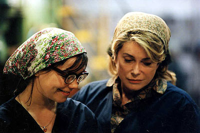 Dancer in the Dark Bjork and Catherine Deneuve in Fine Line's Dancer In The Dark - 2000