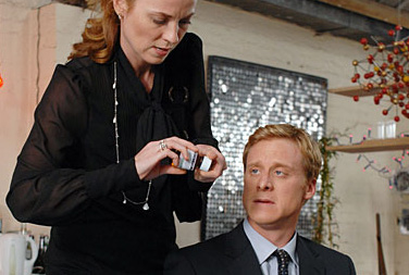 Alan Tudyk Daisy Donovan as Martha and  as Simon in Metro-Goldwyn-Mayer's Death at a Funeral - 2007