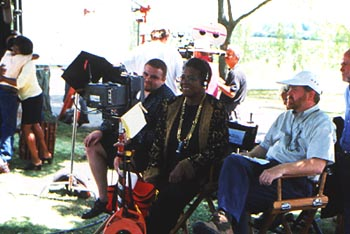Maya Angelou Director  on the set of Down In The Delta