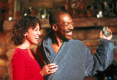 Kristen Wilson  as Lisa and Eddie Murphy as Dr. Dolittle in 20th Century Fox's Dr Dolittle 2 - 2001