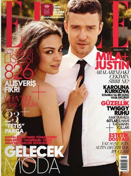 Mila Kunis, Justin Timberlake - Elle Magazine Cover [Turkey] (October 2011)