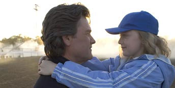 Cale Crane Kurt Russell as Ben Crane and Dakota Fanning as  in John Gatins' Dreamer: Inspired by a True Story, a 2005 DreamWorks Distribution release