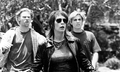 Mark Pellegrino , Jamie Lee Curtis and Casey Affleck in Destination Films' Drowning Mona - 2000
