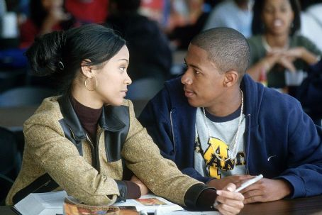 Drumline Zoe Saldana and Nick Cannon in 20th Century Fox's  - 2002