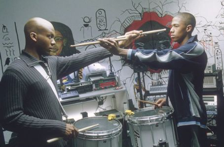 Drumline Leonard Roberts and Nick Cannon in 20th Century Fox's  - 2002