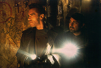 Kevin Pollak Arnold Schwarzenegger and  in Universal's End Of Days - 11/99