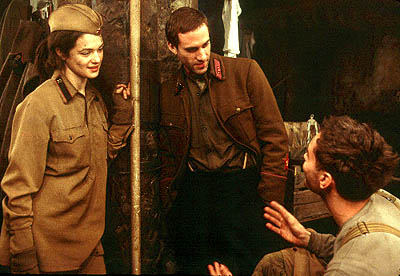 Vassili Zaitsev Rachel Weisz, Joseph Fiennes and Jude Law in Paramount's Enemy At The Gates - 2001