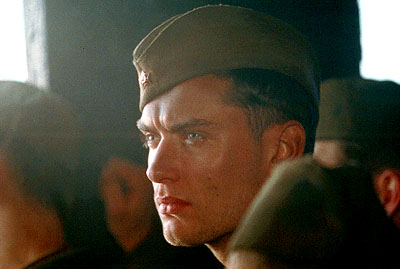 Vassili Zaitsev Jude Law as Vassili in Paramount's Enemy At The Gates - 2001