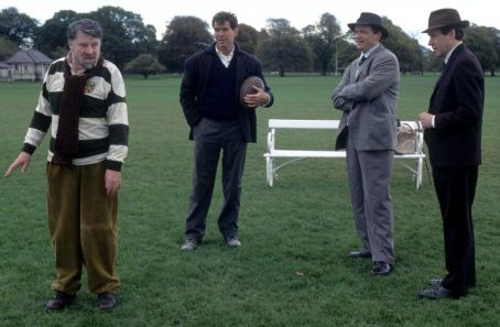 Aidan Quinn Alan Bates, Pierce Brosnan,  and Stephen Rea, in MGM's Evelyn - 2002