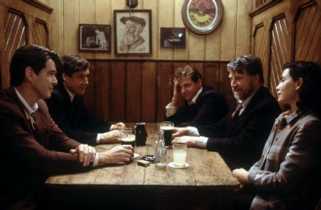 Aidan Quinn Pierce Brosnan, Stephen Rea, , Alan Bates and Julianna Margulies in MGM's Evelyn - 2002
