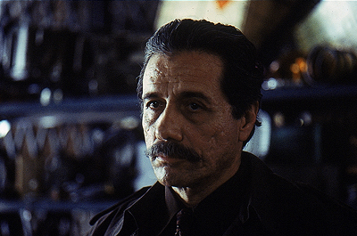 Edward James Olmos  as Detective Curtis in Warner Brothers' Gossip - 2000