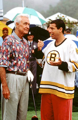 Bob Barker  and Adam Sandler in Happy Gilmore - 1996
