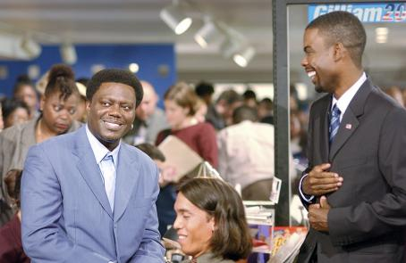 Chris Rock Mitch Gilliam (Bernie Mac, left) shares a laugh with his brother and Presidential candidate Mays Gilliam (, right)