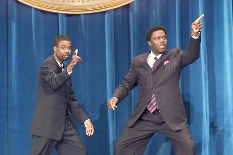 Chris Rock Presidential candidate Mays Gilliam (, left) and his brother and unconventional running mate Mitch Gilliam (Bernie Mac) stump for office