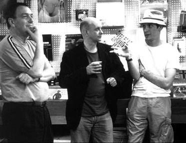 High Fidelity Director Stephen Frears, novelist Nick Hornby and D.V. DeVincentis, who adapted Hornby's novel into the screenplay for Touchstone's  - 2000