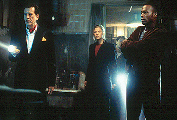 Taye Diggs Geoffrey Rush, Ali Larter, Chris Kattan and  in Warner Brothers' House On Haunted Hill - 10/99