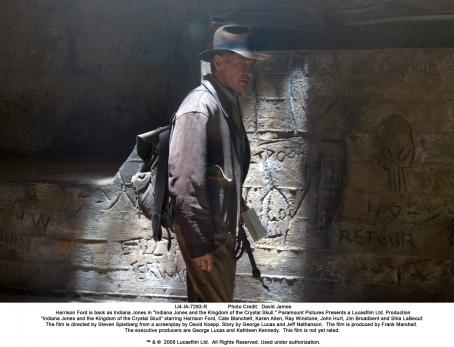 Indiana Jones Harrison Ford is back as  in ' and the Kingdom of the Crystal Skull.' Photo Credit: David James. ™ & © 2008 Lucasfilm Ltd. All Rights Reserved. Used under authorization.
