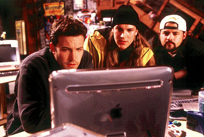 Kevin Smith Ben Affleck as Holden, Jason Mewes as Jay and  as Silent Bob in Dimension's Jay and Silent Bob Strike Back - 2001