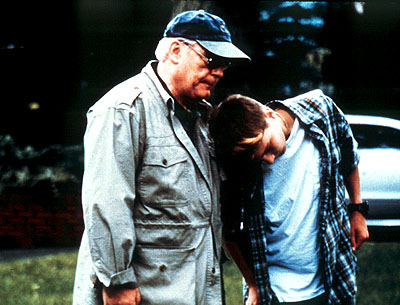 Brian Cox  as Big John Harrigan and Paul Franklin Dano as Howie in Lot 47's L.I.E. - 2001