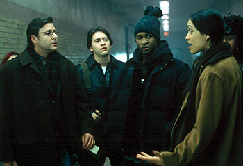 Judd Nelson , Clifton Collins Jr., Usher Raymond, Rosario Dawson and Robert Ri'chard in Light It Up - 11/99