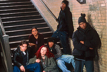 Fredro Starr Clifton Collins Jr., Rosario Dawson, Sara Gilbert, Robert Richard,  and Usher Raymond in Light It Up - 11/99
