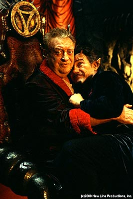 Harvey Keitel Rodney Dangerfield and  in New Line's Little Nicky - 2000