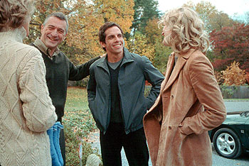 Blythe Danner Dina () and Jack Byrnes (Robert De Niro) meet Greg Focker (Ben Stiller), their daughter Pam's (Teri Polo) new boyfriend in Universal's Meet The Parents - 2000