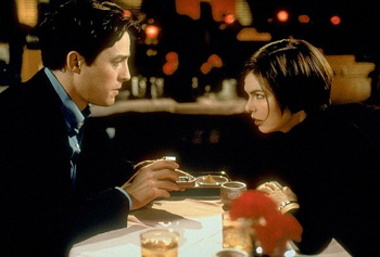 Jeanne Tripplehorn Hugh Grant and  in Mickey Blue Eyes