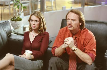 Mr. Deeds Babe Bennett (Winona Ryder) and her boss, sleazy 'Inside Access' host Mac McGrath (Jared Harris), watch Longfellow Deeds on TV in Columbia's  - 2002
