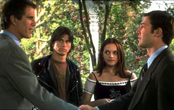 Elisabeth Moss Ted Danson, Jason Ritter,  and Loren Dean in Touchstone's Mumford - 9/99
