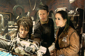 Paul Reubens , Tom Waits and Janeane Garofalo in Universal's Mystery Men - 1999