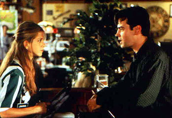 Office Space Jennifer Aniston and Ron Livingston in 20th Century Fox's  - 1999