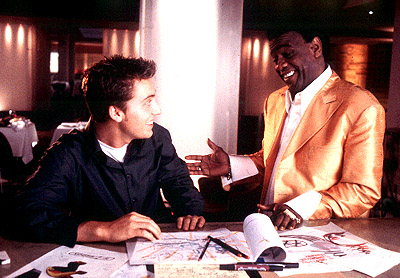 On the Line Lance Bass and Al Green in Miramax's On The Line - 2001