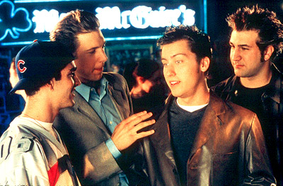 Joey Fatone GQ, James Bulliard, Lance Bass and  in Miramax's On The Line - 2001