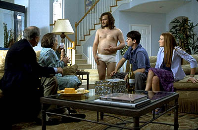 Garry Marshall , Dana Ivey, Jack Black, Colin Hanks and Schuyler Fisk in Paramount's Orange County - 2002