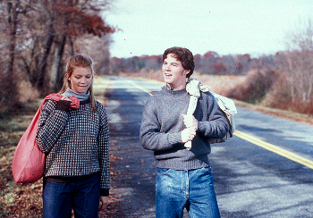 Outside Providence Amy Smart and Shawn Hatosy in
