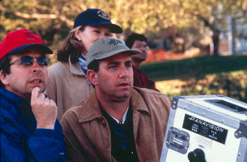 Peter Farrelly Co-writer  and director Michael Corrente on location for Outside Providence