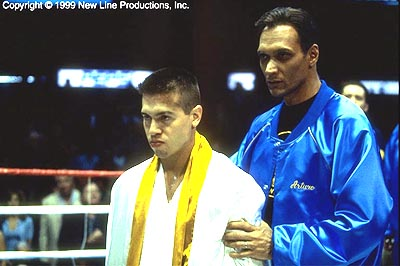 Jimmy Smits Jon Seda and  in New Line's Price Of Glory - 2000