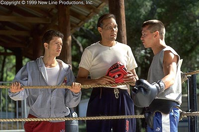 Jimmy Smits Clifton Collins Jr.,  and Jon Seda in New Line's Price Of Glory - 2000